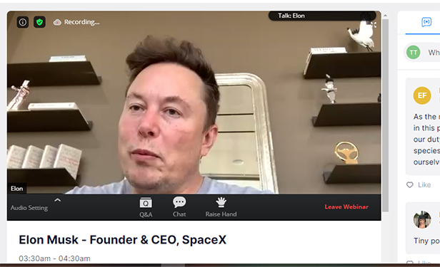 Virtual Successes: Connect Cyber and Mars Conference_Elon Musk